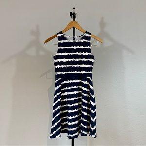 Navy/White Straps Jersey Girls Dress